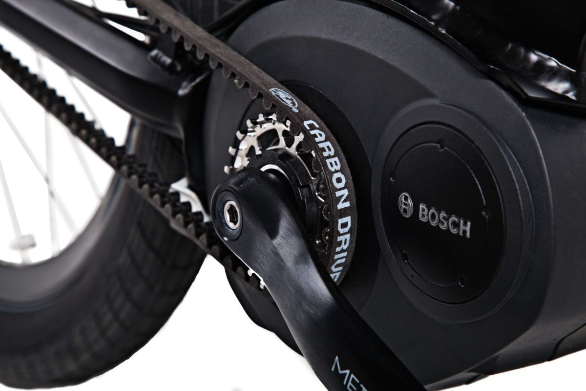 Gates carbon drive launches new products cranks di2 and for E bike bosch motor