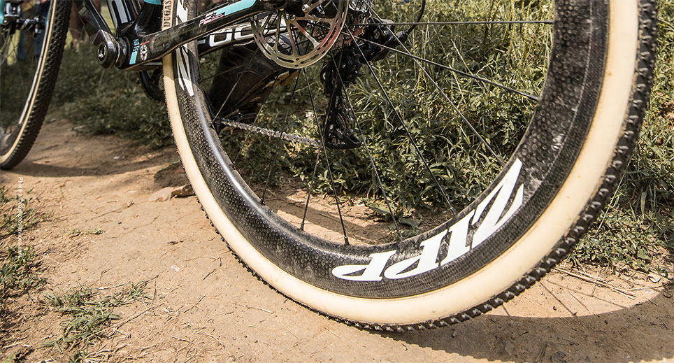 Photo: Pairing top cyclocross pros with ZIPP wheels and components is crucial for product development and verification.