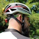 The Spiderlock Pro II is easy to adjust on the fly, especially with the rear light attached. c