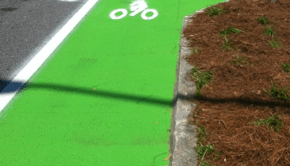 colord bike lane