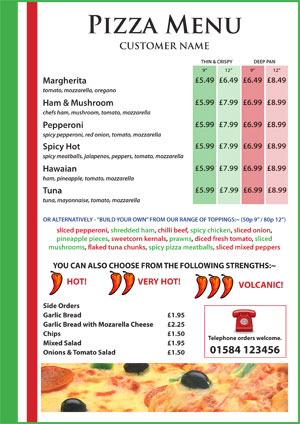 example of menu - Akbagreenw - restaurant menu project examples