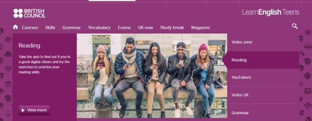 Free EFL resources British council