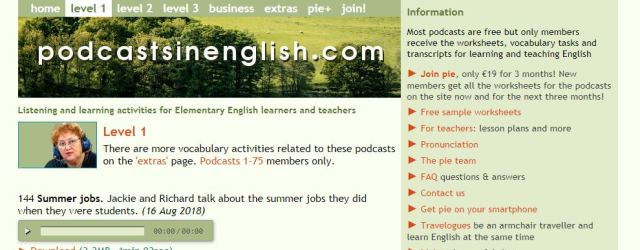 Free TEFL resources podcasts in english