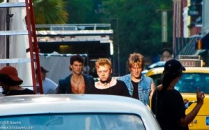 The Dead Boys (l-r): Justin Bartha as Stiv Bators, Rupert Grint as Cheetah Chrome, Bronson Adams as Johnny Blitz