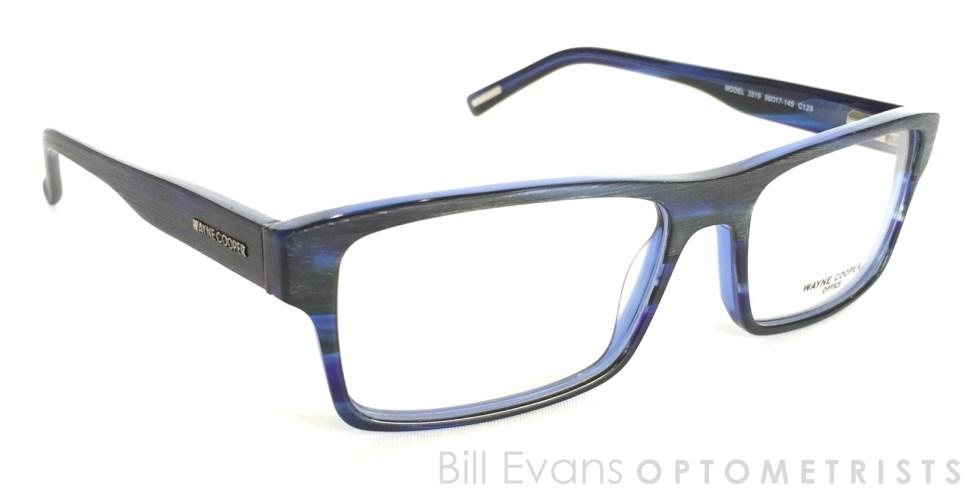 Wayne Cooper frames at Bill Evans Optometrists