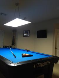 LED Panel Lights for 7,8, 9,10 ft. Pool and Billiard Tables