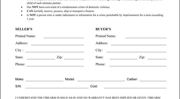 Doc#9001165 Firearm Bill of Sale u2013 Firearm Bill of Sale Free - gun bill of sale