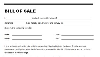 how to make a car bill of sale