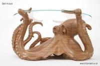 Octopus Coffee Table by wildlife artist Bill Prickett.