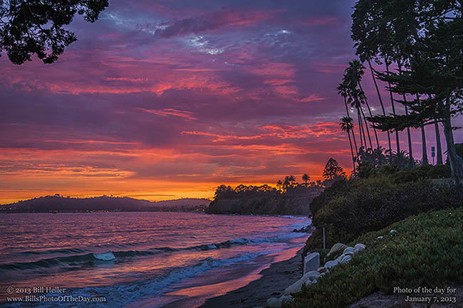 Panoramic Wallpaper Fall Tropical Butterfly Sunset Sunset Over Santa Barbara From