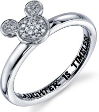 Disney Sterling Silver 1/20 ctw Diamond Laughter is ...