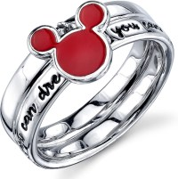 Disney Sterling Silver Red Enamel If You Can Dream It ...