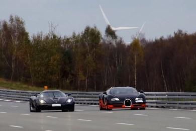 Koenigsegg Agera R mod Bugatti Veyron Vitesse