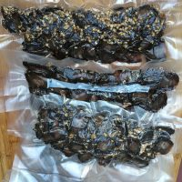 Vacuum sealed Biltong with crushed coriander seeds.
