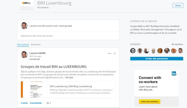 BIMblog groupe Linkedin BIM Luxembourg