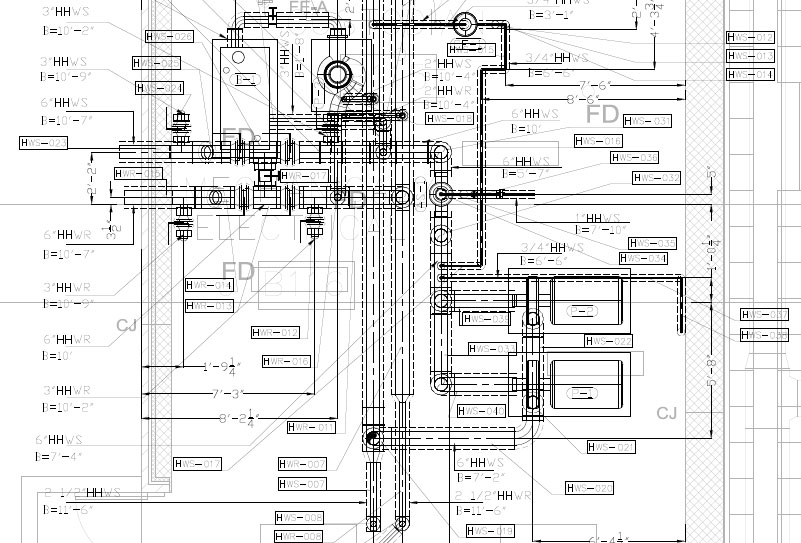 shop drawing of hvac