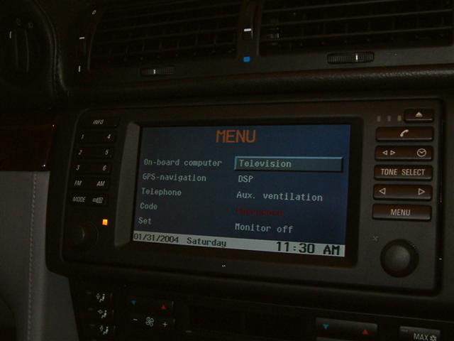 BMW Television Retrofit \u2013 Bimmernav Online Store
