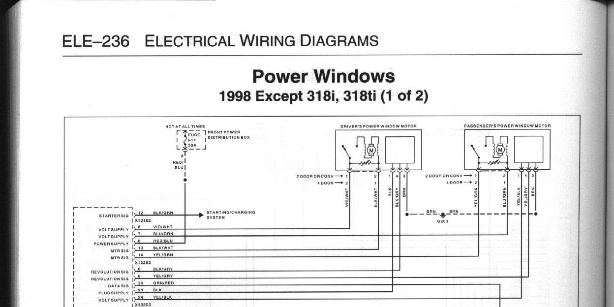 bmw e36 power window wiring diagram