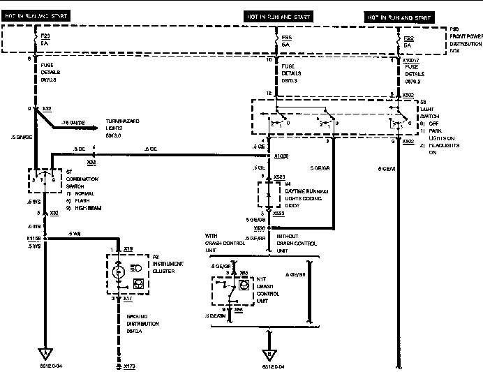 e30 headlight wiring diagram