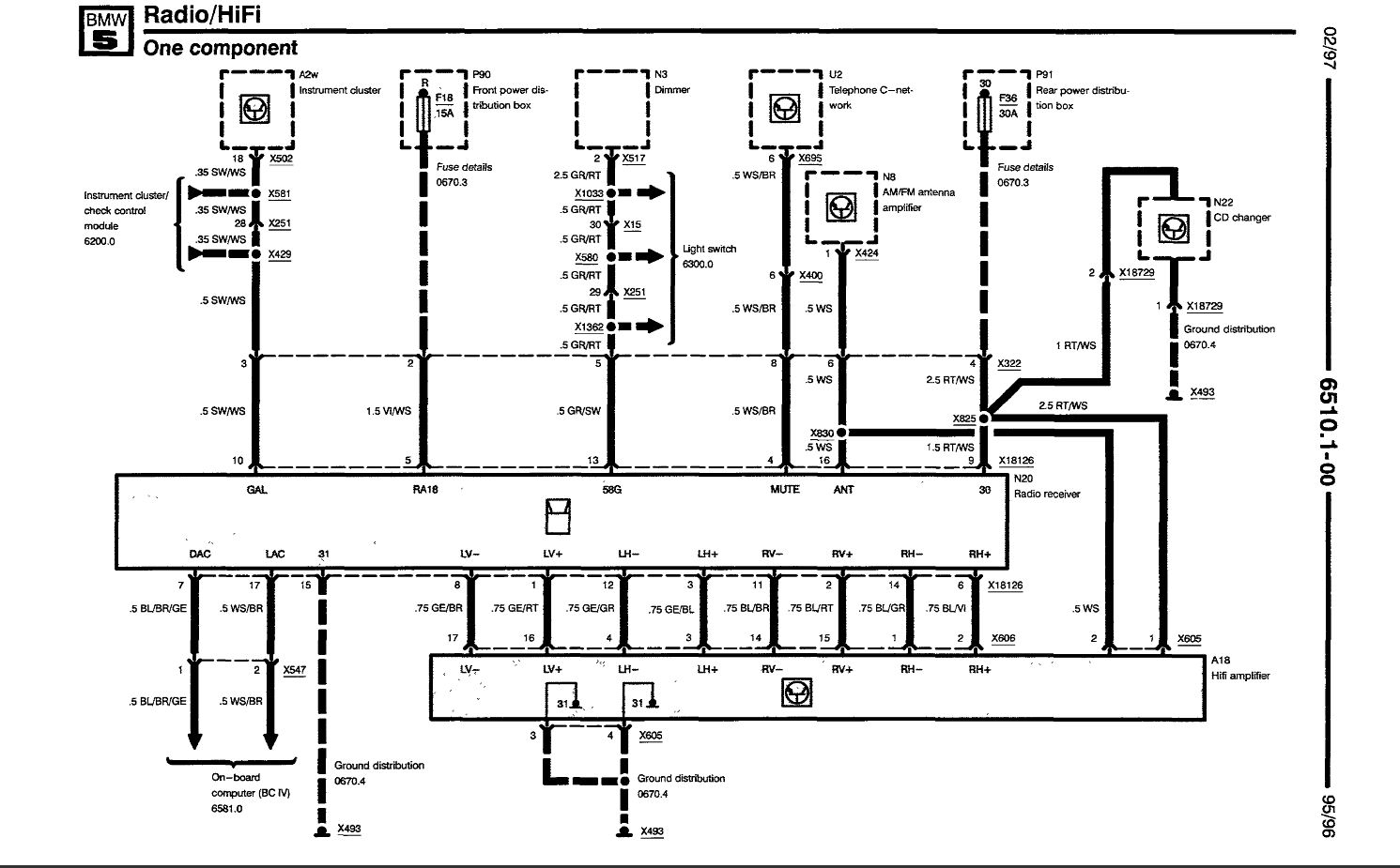 e53 amplifier wiring diagram