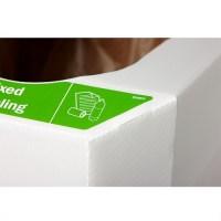 Combin Cardboard Combination Recycling Bin - Pack of 5 ...
