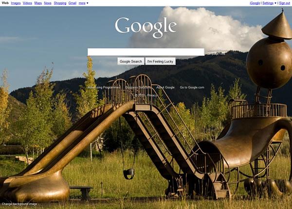 Google Homepage Background Image