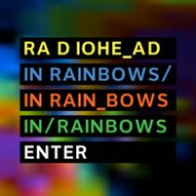 Radiohead In Rainbows website screenshot