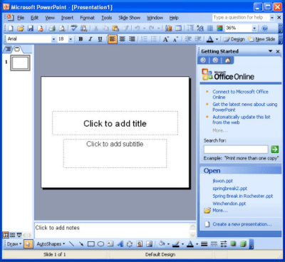 Kingsoft Presentation is an alternative to Microsoft PowerPoint 2003 that can open, view and ...