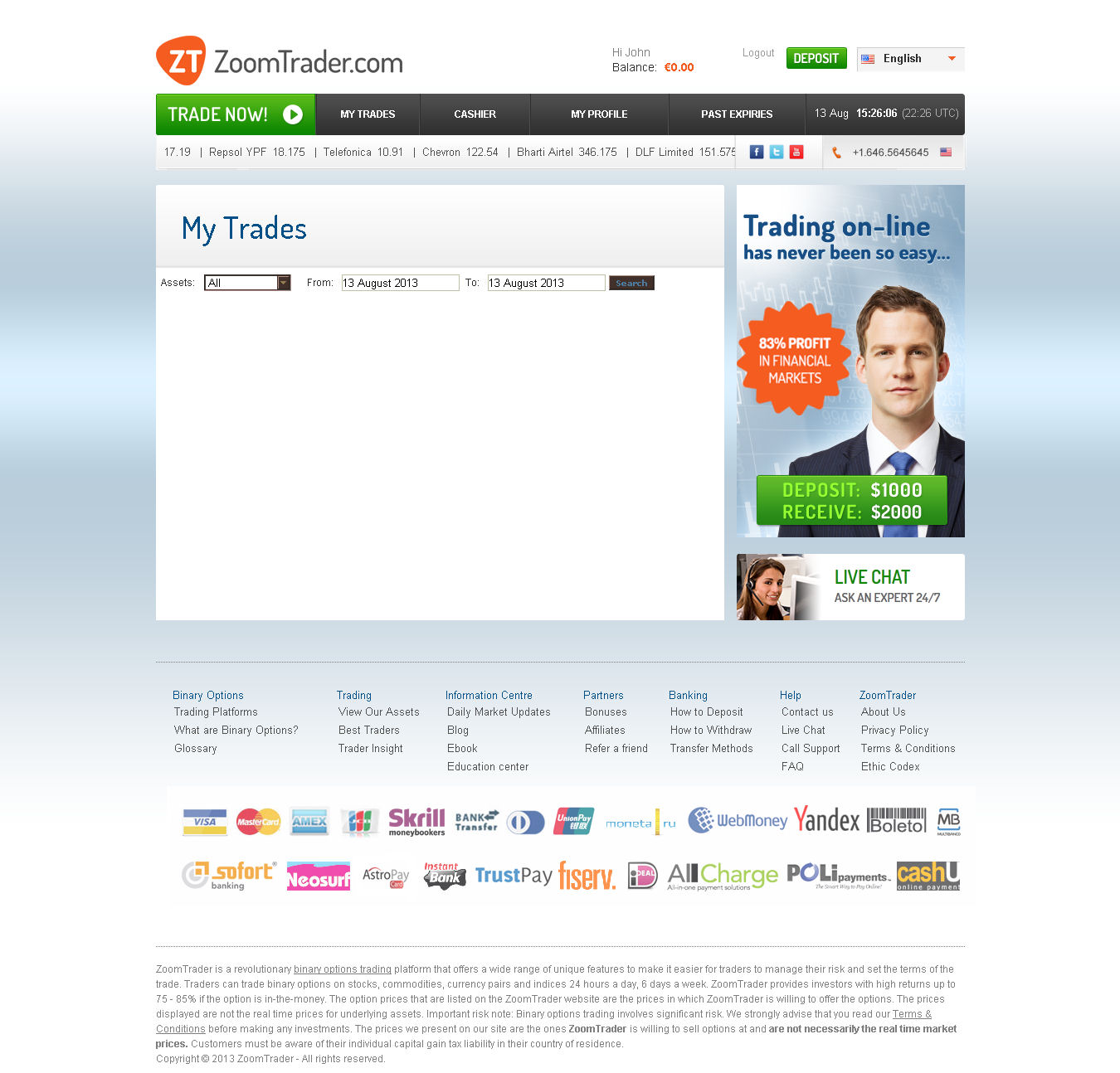 Binary options hyip