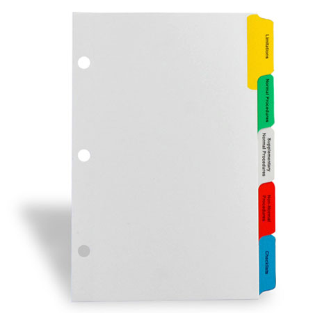 INDEX TAB DIVIDERS Custom Index Dividers for Ring Binders - folder dividers tabs
