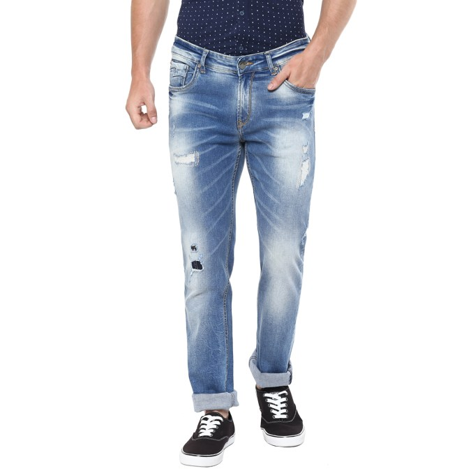 Spykar Blue Denim_ripped