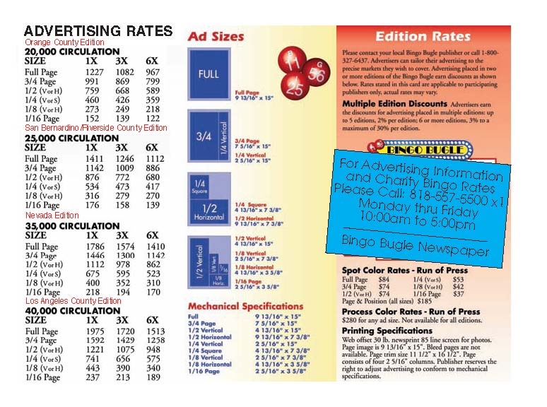 wwwbingo4fun graphics RATE-CARD-2009jpg Publication - table of contents template