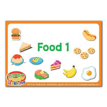 Food (Set 1) - Free ESL Flashcard Pack - BINGOBONGO