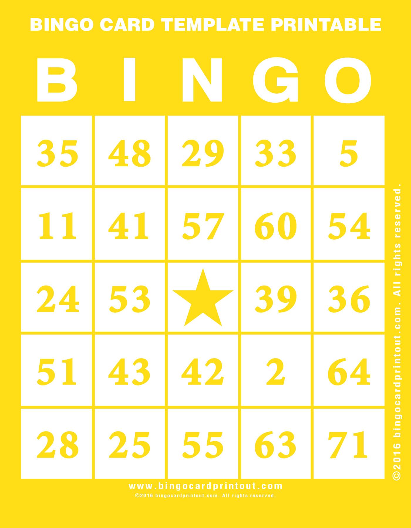 Bingo Template Excel Vosvetenet – Blank Bingo Template