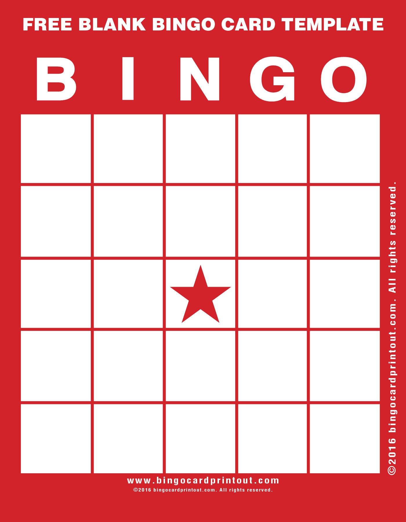 Blank Bingo Cards Template – Sample Bingo Card Template