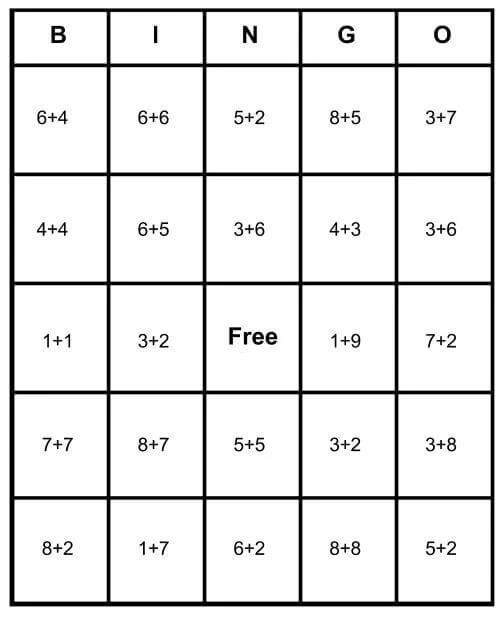 Math Bingo Free Cards - Learn How To Play  Print for Free