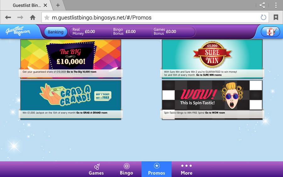 Guestlist Bingo An Honest Overview by a Player