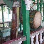 Wooden drums struck before the azan, in times gone by.