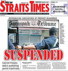 Sarawak Newspaper Suspended over Cartoons