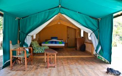 Luxury tent - looking in from the Veranda