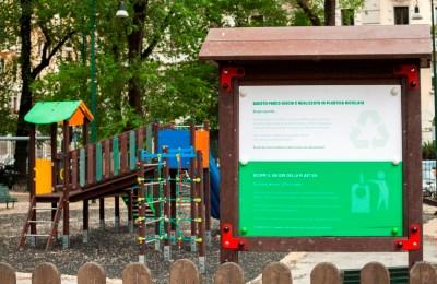 Parco-delle-Basiliche_nuova-area-giochi-in-plastica-ricilata
