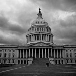 A stormy day at the Capitol. Photo by Natalie Maguire via Flickr.