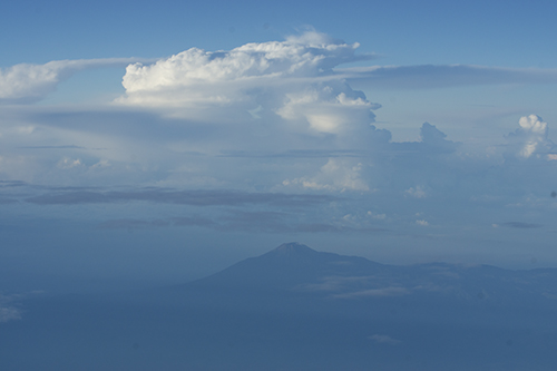 Merapi Central Java Indonesia  from the air