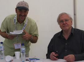 David Attenborough at the Bird Fair