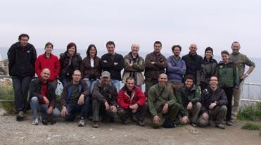 """Agents rurals participants en el curset """"Identificació d¡ocells de la franja litoral catalana"""""""