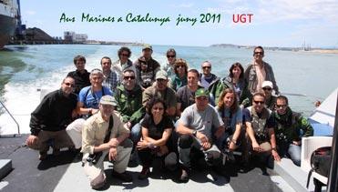 """Participants en el curset """"Aus Marines a Catalunya"""" organitzada per l'UGT"""