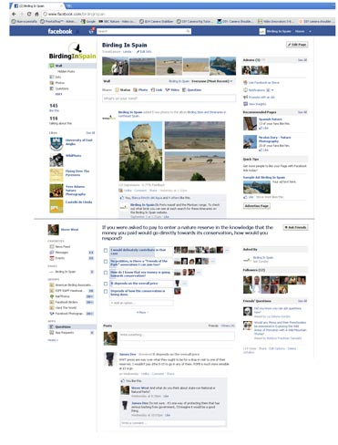 Birding In Spain Facebook question