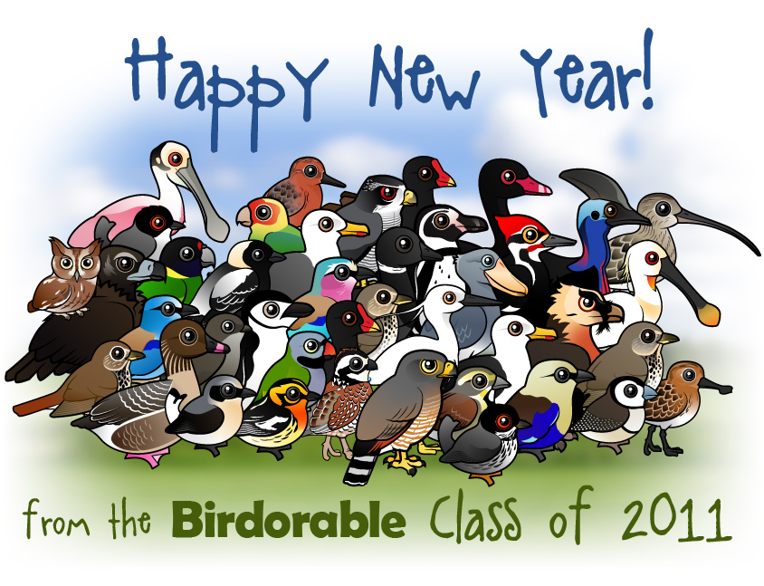 Happy New Year From The Birdorable Class Of 2011 In