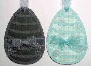 stripey egg tags