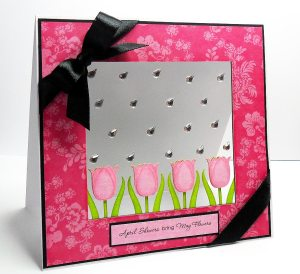 tulip april showers card